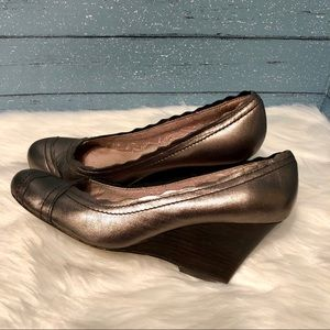 Seychelles copper rose gold wedges Size 7.5